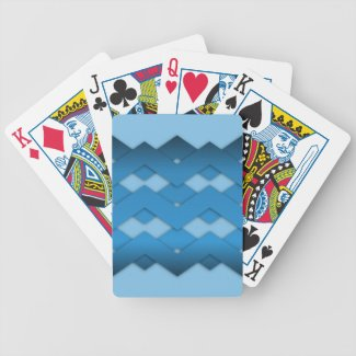 Blue Zigzags Card Decks