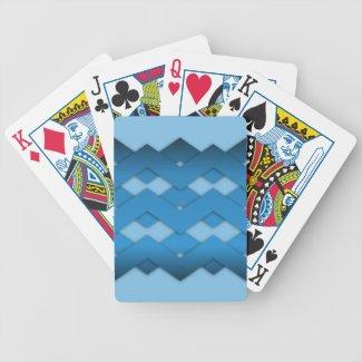 Blue Zigzags Card Decks