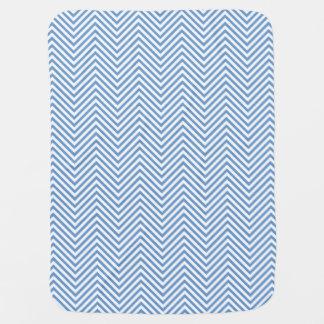 Blue Zigzags in 2-Tone Reversible - Baby Blanket
