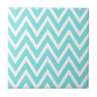 Blue zigzags tile