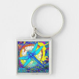 "Blue Zinger"" dragonfly Keychain"