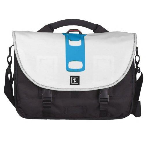 Blue Zipper Computer Bag
