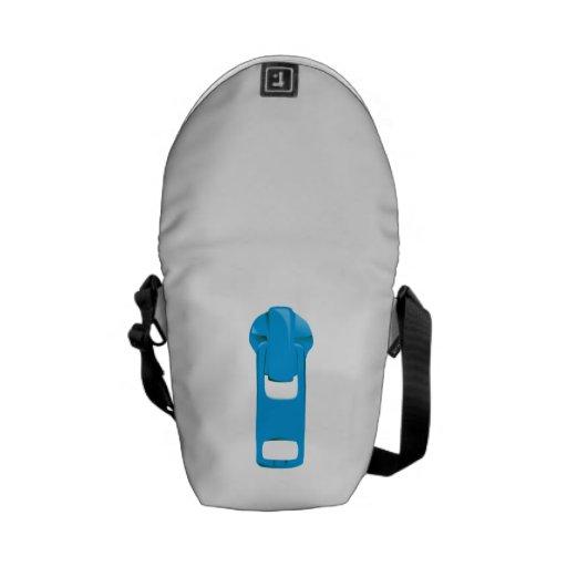Blue Zipper Messenger Bags