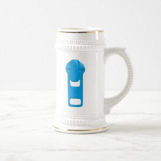 Blue Zipper 18 Oz Beer Stein