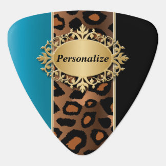 Blue Zircon and Black Jaguar | Personalize Guitar Pick