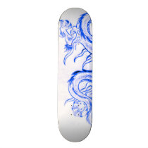 Blue Zircon Dragon Part 1 Skateboard