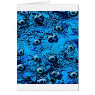 Blue Zombi Eyes Card