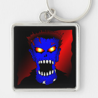 Blue Zombie pieces of Flair Keychain
