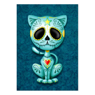 Blue Zombie Sugar Kitten Large Business Cards (Pack Of 100)