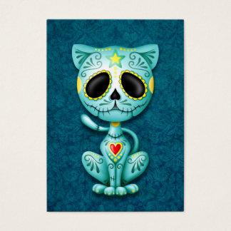 Blue Zombie Sugar Kitten Business Card