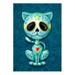 Blue Zombie Sugar Kitten Business Card Template