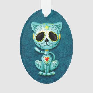 Blue Zombie Sugar Kitten Cat Ornament