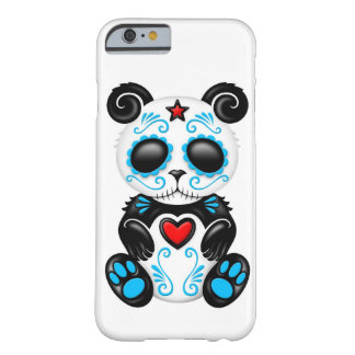 Blue Zombie Sugar Panda on White Barely There iPhone 6 Case