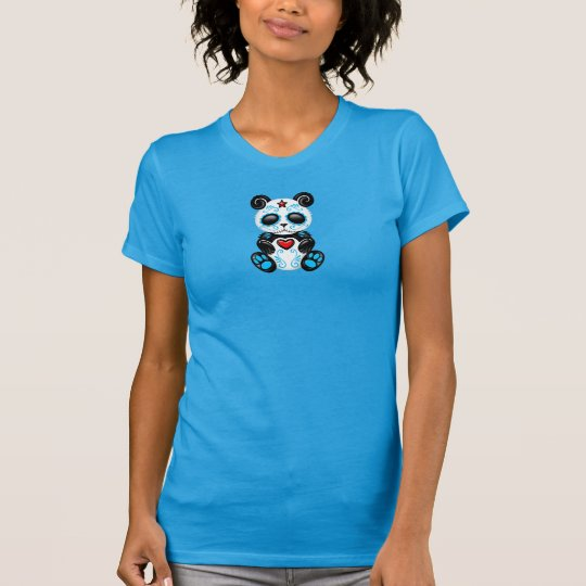 Blue Zombie Sugar Panda T-Shirt