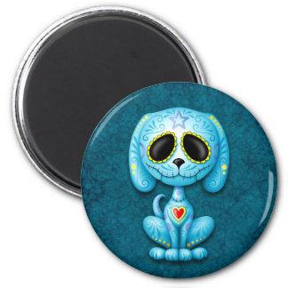 Blue Zombie Sugar Puppy 2 Inch Round Magnet