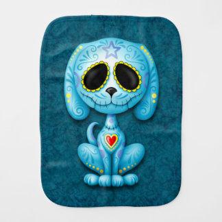 Blue Zombie Sugar Puppy Dog Baby Burp Cloth