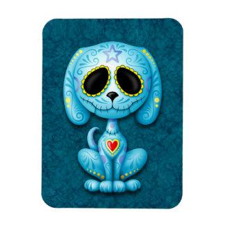 Blue Zombie Sugar Puppy Dog Vinyl Magnet