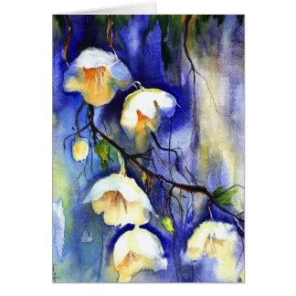 blueandwhite umbrellas from heaven greeting card