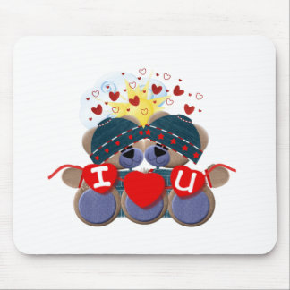 Bluebearie-i love you -1 mouse pad