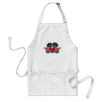 Bluebearie-i love you adult apron