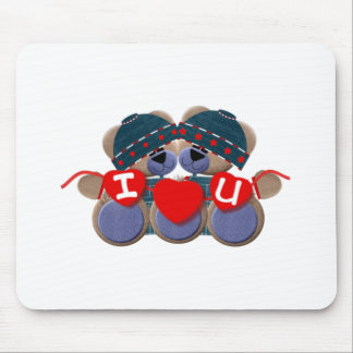 Bluebearie-i love you mouse pad