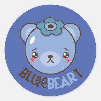 BlueBeary Blueberry Bear Classic Round Sticker
