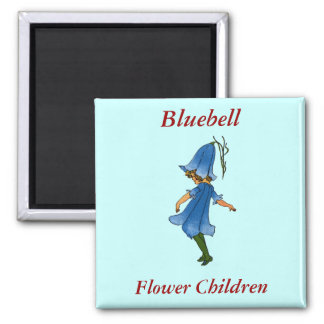 Bluebell 2 Inch Square Magnet