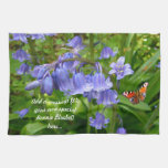 Bluebell and Butterfly  ~ Kitchen Towel