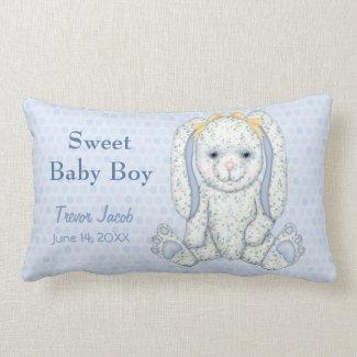Bluebell Bunny and Polka Dots Keepsake Pillow