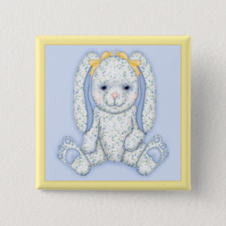 Bluebell Bunny Pinback Button