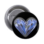 bluebell del corazón pin redondo 5 cm