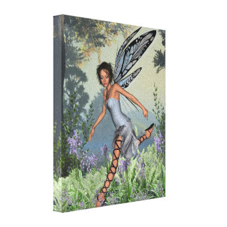 Bluebell Fairy in Spring Woodland Canvas Print