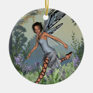 Bluebell Fairy in Spring Woodland Ceramic Ornament