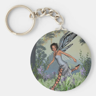 Bluebell Fairy in Spring Woodland Keychains