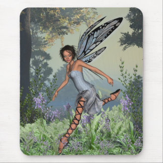 Bluebell Fairy in Spring Woodland Mouse Pad