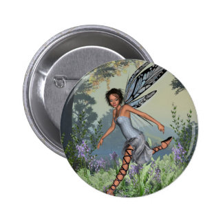 Bluebell Fairy in Spring Woodland Pinback Button
