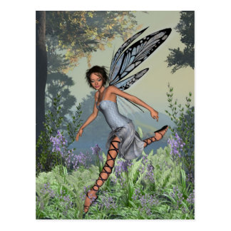 Bluebell Fairy in Spring Woodland Postcard