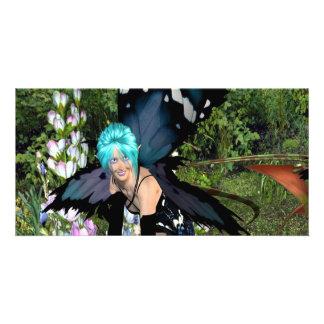 Bluebell Flower Pixie Card