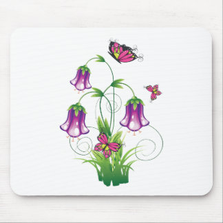 Bluebell Flower with Leaves Mouse Pad