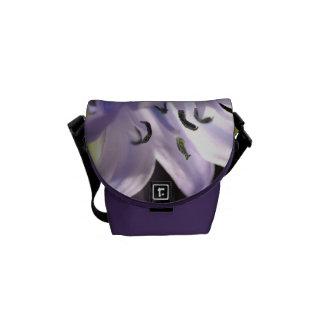 Bluebell Flowers Mini Messenger Bag Outside Print