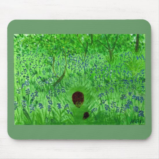 Bluebell Hedgehogs Woodland Mouse Pad