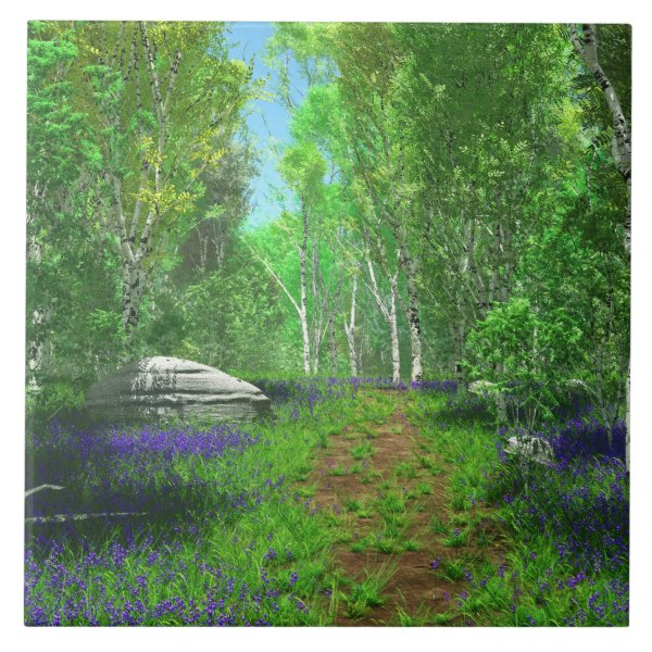 Bluebell Light Decorative Tile