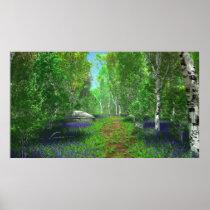 Bluebell Light Print