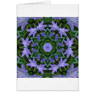 Bluebell Mandala Card