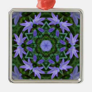 Bluebell Mandala Metal Ornament