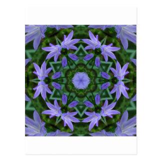 Bluebell Mandala Postcard