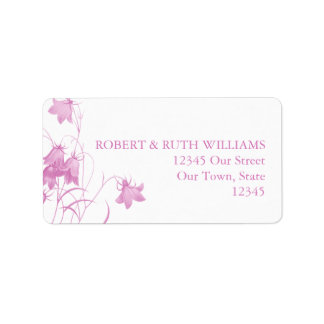 Bluebell - Pink Address Label
