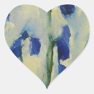 Bluebell Wildflowers Heart Sticker