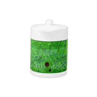 Bluebell Wood Hedgehogs Art Teapot