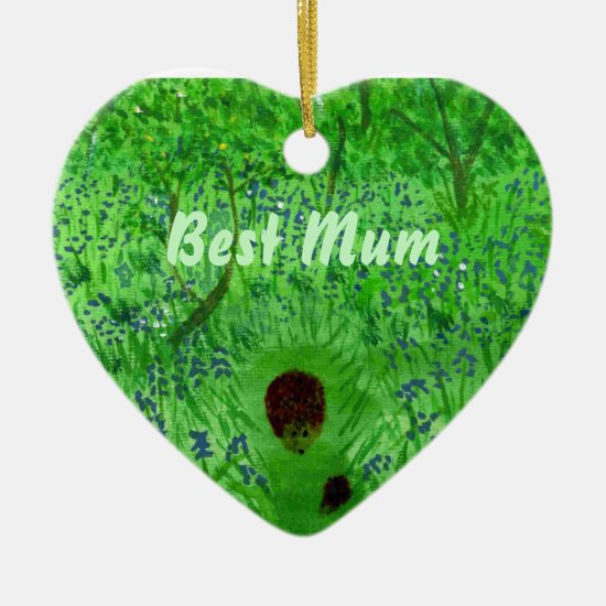 Bluebell Wood Hedgehogs Best Mum Ceramic Ornament